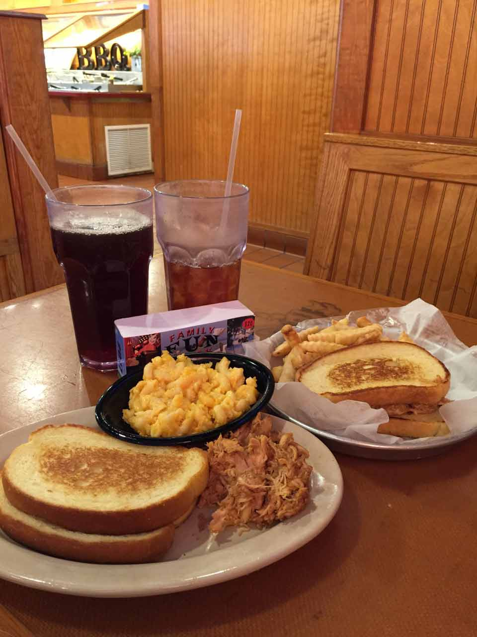 Woody's BBQ coupon deal food recived with The Family Fun Book - Orange City Florida