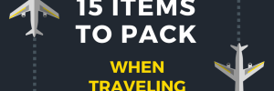 15 Items to Pack with traveling with kids
