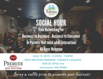 social hour and networking at the best western premier
