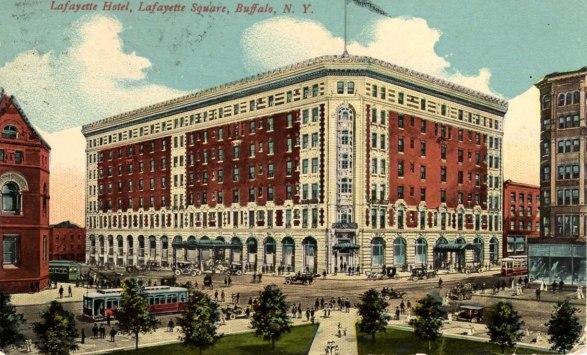 Postcard - Lafayette Hotel, Buffalo, New York
