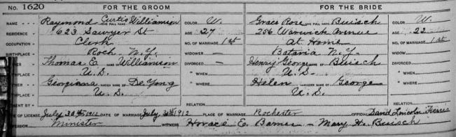 New York, County Marriages, 1908-1935 on FamilySearch