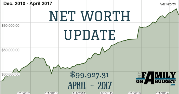April 2017 Net Worth Update Progress Graph