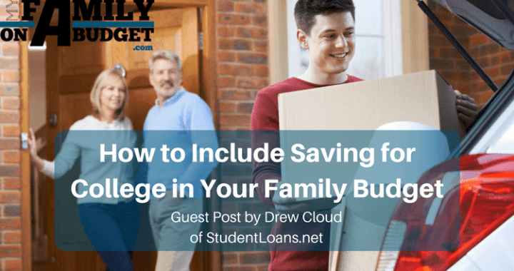 How to include saving for college in your family budget.