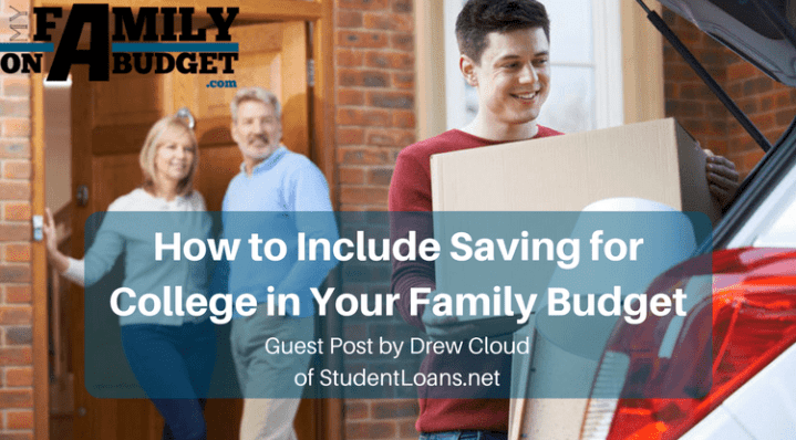 How to Include Saving for College in Your Family Budget | Saving for college with everything else going on can be tough. Check out these tips to help with budgeting for college savings.