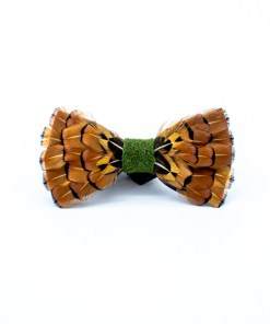 My Fancy Feathers Bow Tie with Pheasant Feathers