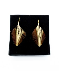 My Fancy Feathers Earrings, Duck Feather.