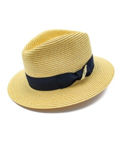 My Fancy Feathers Summer Fedora Hat in Natural