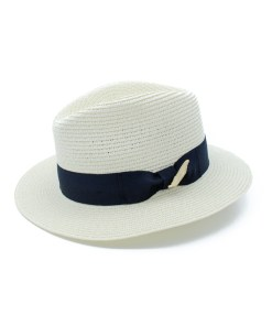 My Fancy Feathers Summer Fedora Hat in White