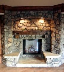 Rustic Stone Fireplace Mantel Ideas