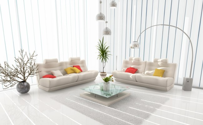 All White Interior Design Mixed With Feng Shui