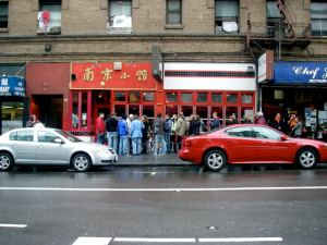 House of Nanking and the usual line outside