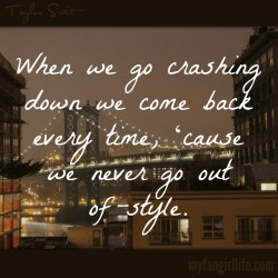 Taylor Swift 1989 Lyrics - Style 2