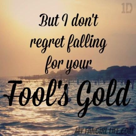 One Direction Four Lyrics - Fools Gold 3