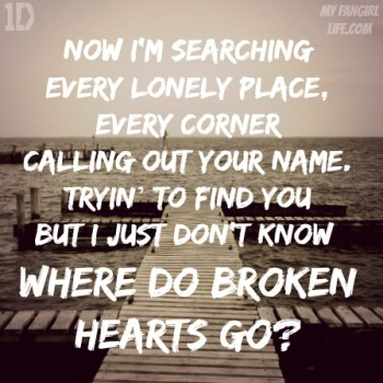 One Direction Four Lyrics - Where Do Broken Hearts Go 1