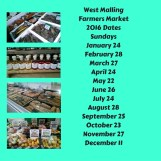 West Malling Farmers Market 2016 dates