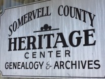 Somervell County Heritage Center