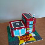 Fire Station Lego Inspired Customised Cake Call 995 My Fat Lady Cakes Bakes