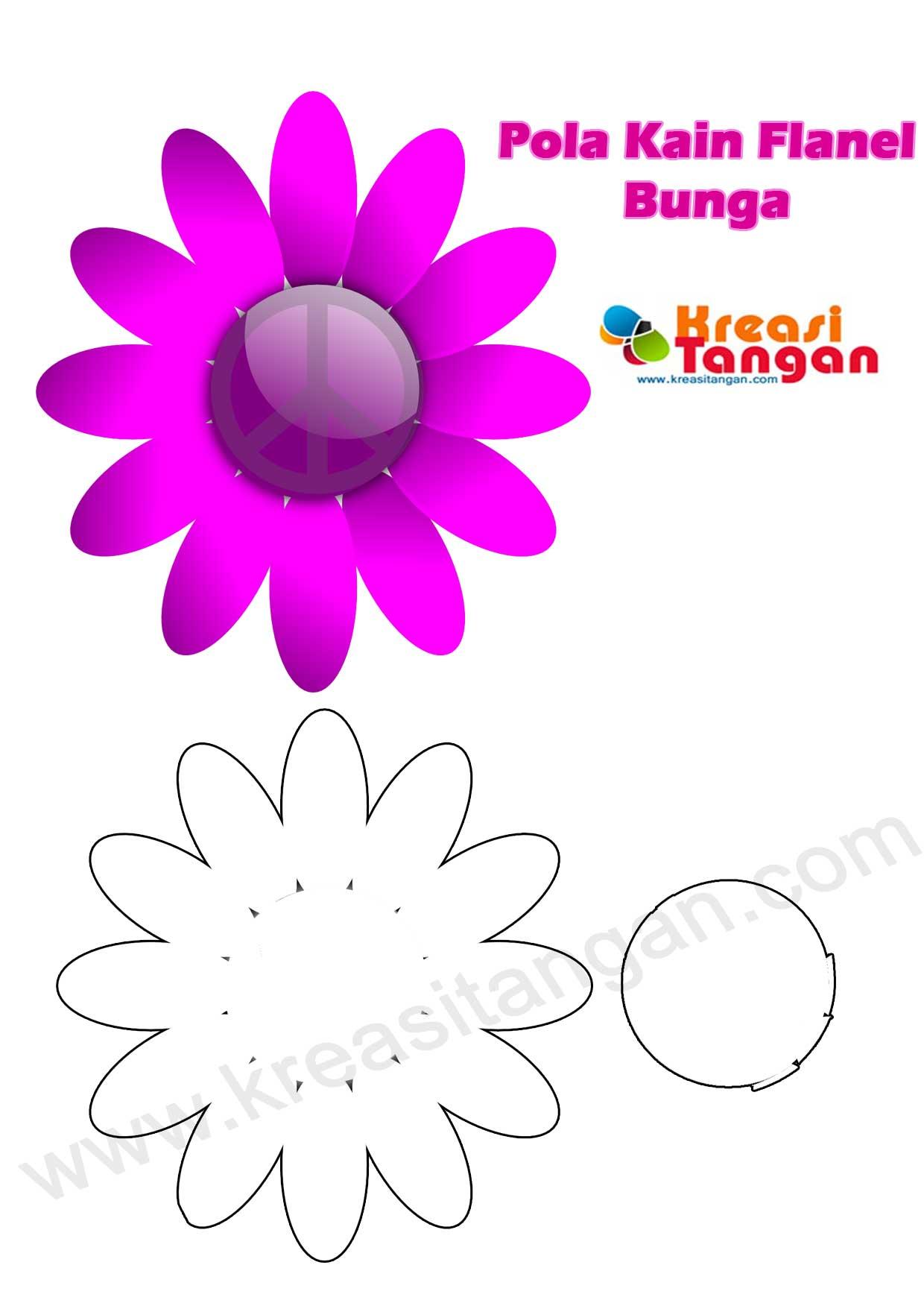 Pola Flanel  Bunga  My Favorite Handicraft