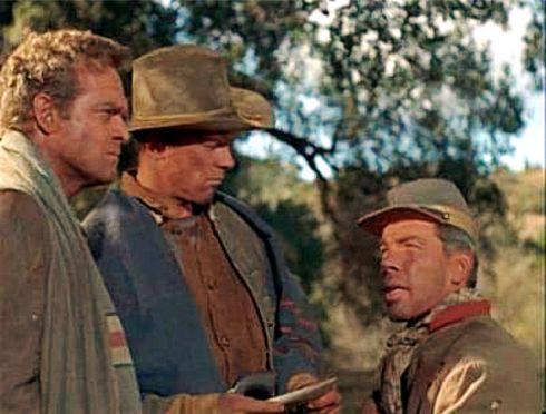 The Raid (1954) - Heflin (right) Marvin (left)