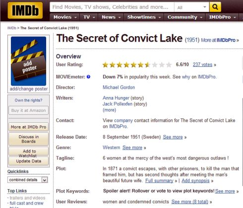 The Secret of Convict Lake review