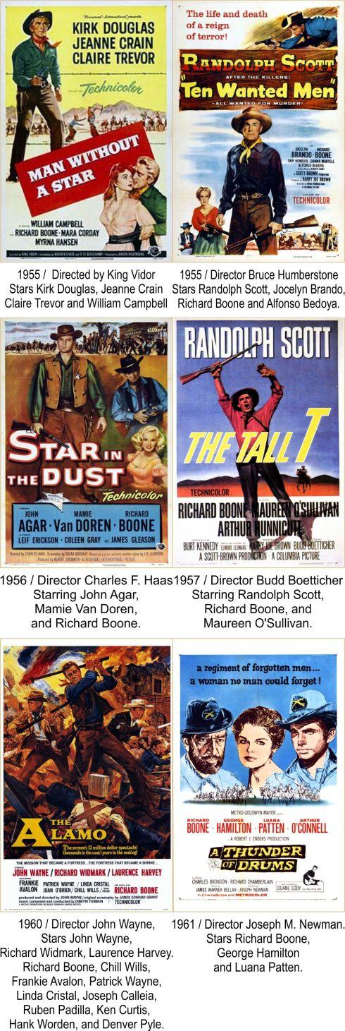 Richard Boone Filmography 2