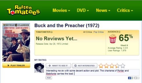 Buck and the Preacher Rotten Tomatoes