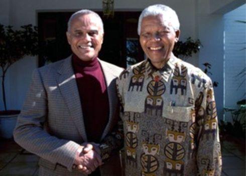 Harry Belefonte and Nelson Mandela