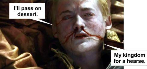 joffrey has some pie ...
