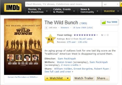 The WIld Bunch IMDB Review