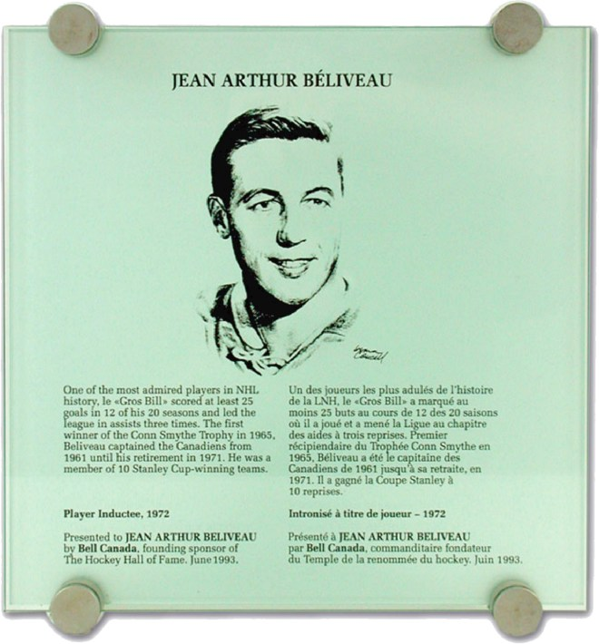 Jean Beliveau Hall of Fame