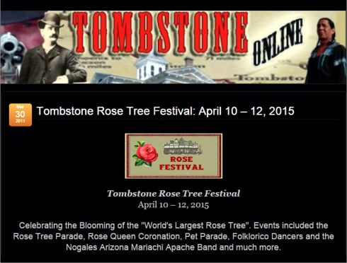 tombstone rose festival
