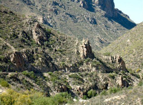 Sabino Canyon Tram and High Trail