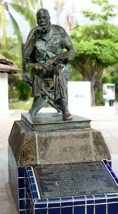 Huston statue