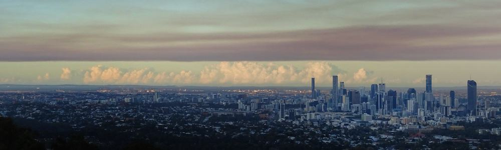 Brisbane View from Mount Coot Tha