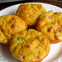 Sweet Potato Bacon and Cheese Muffins