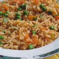 Basmati Rice with Carrot and Peas