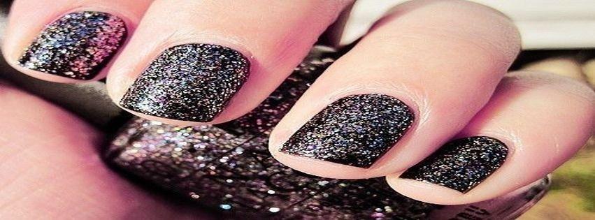Black Design Glitter Nail Art Polish Facebook Covers Downlo 0 Created 2017 03 05