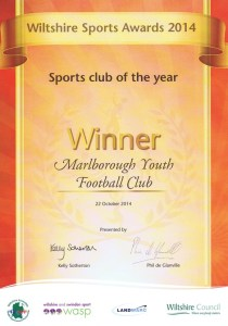 MYFC | Wiltshire Sports Club of the Year 2014