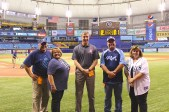 Secretary Steinman and Rays employee ticket winners