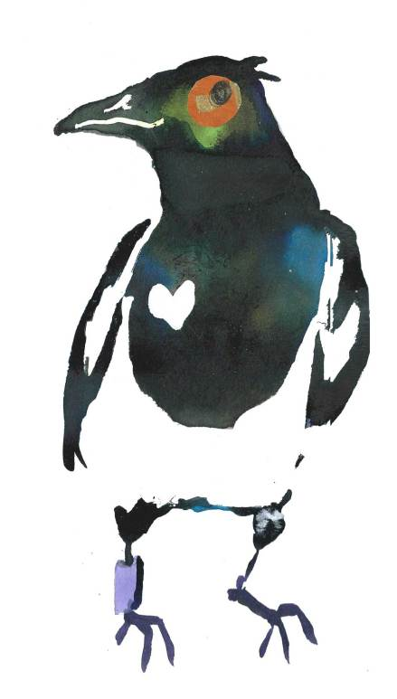 Magpie by Myfanwy Tristram