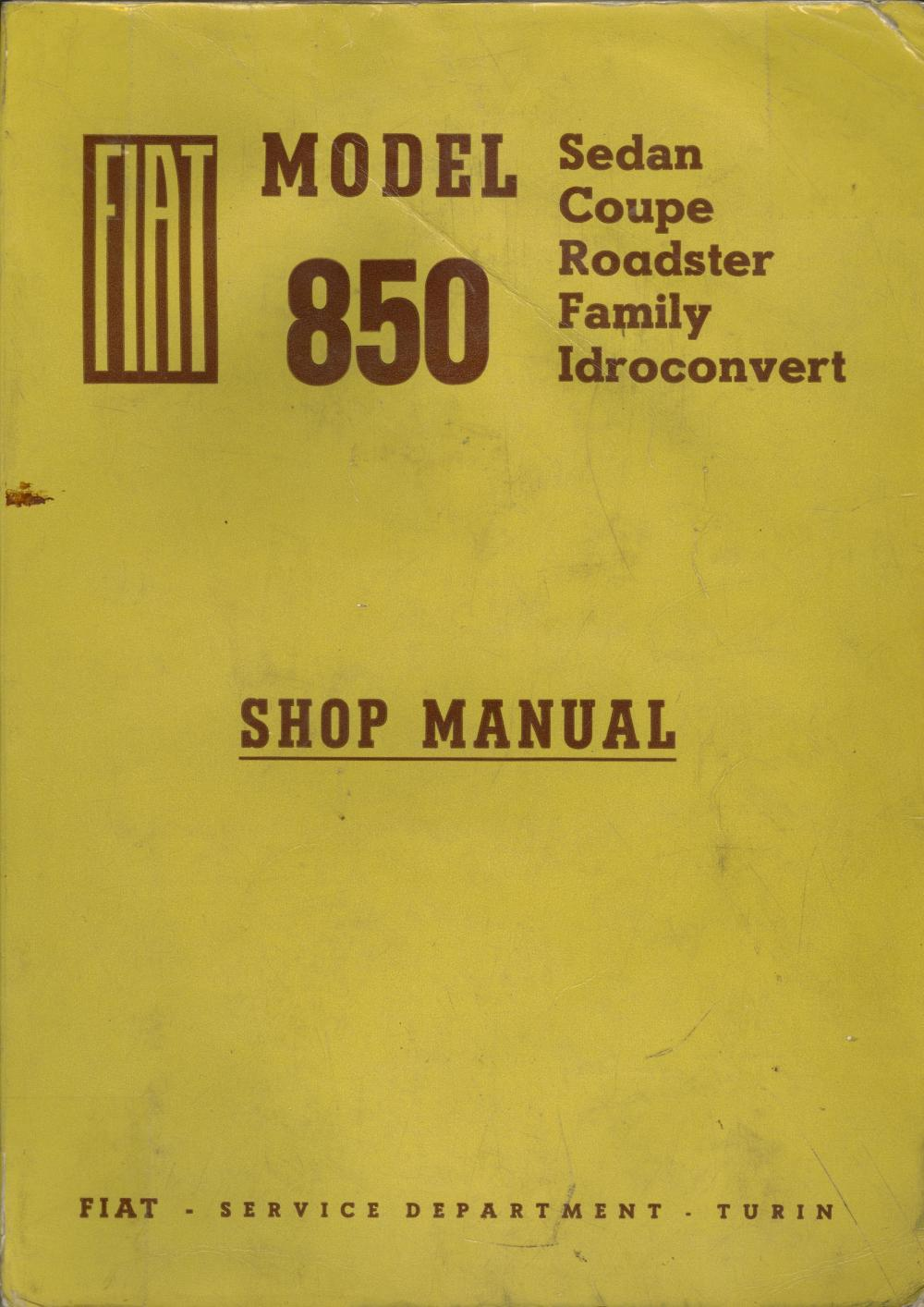 medium resolution of fiat 850 shop manual