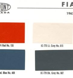 1962 dupont fiat paint codes [ 5086 x 2118 Pixel ]