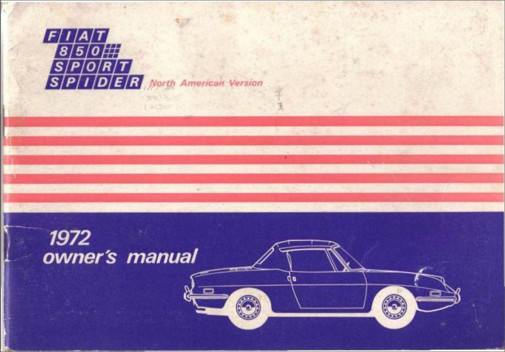 medium resolution of 1972 fiat 850 spider owner s manual