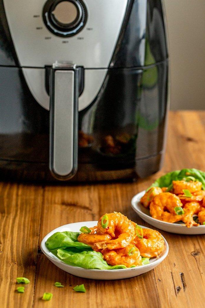 MyFinancialHill Air Fryer Bang Bang Shrimp Recipe Healthy Low Carb Dinner