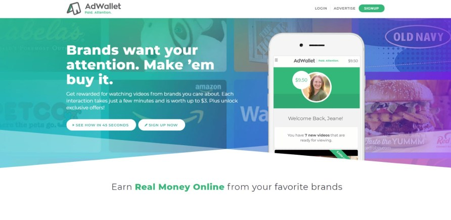 AdWallet Watch Ads for Money My Financial Hill