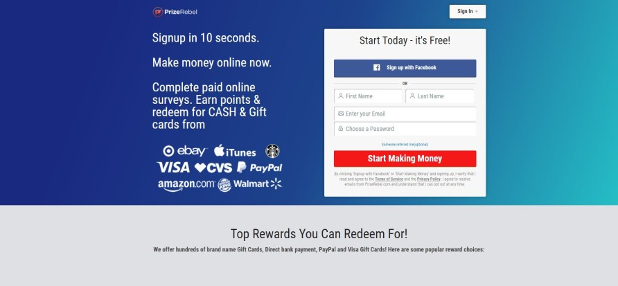 PrizeRebel Watch Ads for Money My Financial Hill