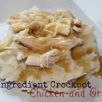 3 Ingredient Crockpot Chicken and Gravy