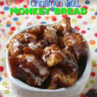 Crockpot Cinnamon Roll Monkey Bread