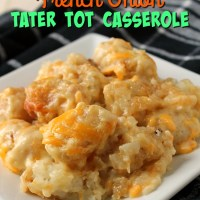 4 Ingredient French Onion Tater Tot Casserole