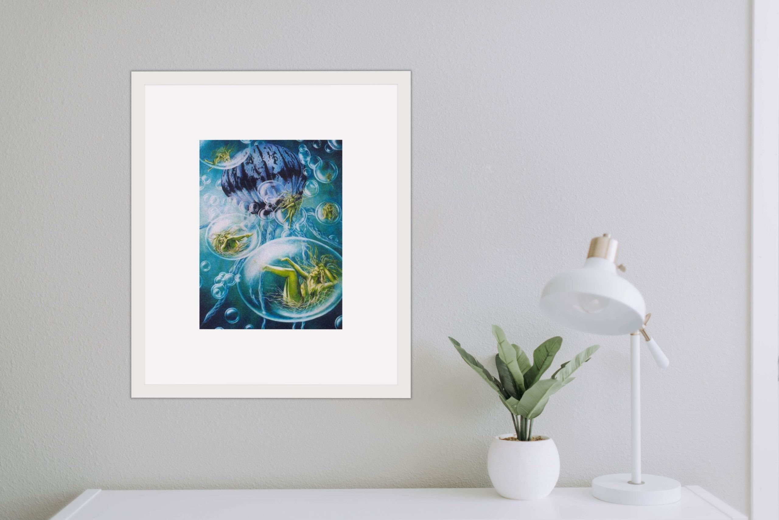 Limited Edition Prints - Water Fairy On Wall